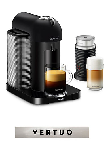Nespresso Vertuo Coffee Machine and Milk Frother-BLACK-One Size