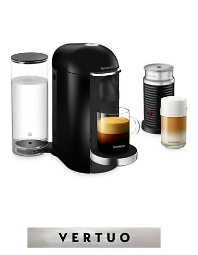 Nespresso VertuoPlus Deluxe Coffee Machine and Milk Frother-BLACK-One Size