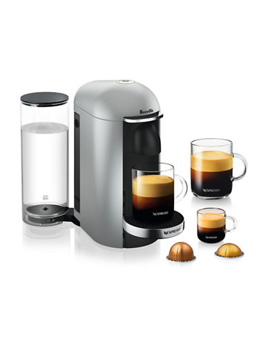 Nespresso VertuoPlus Deluxe Coffee Machine-SILVER-One Size