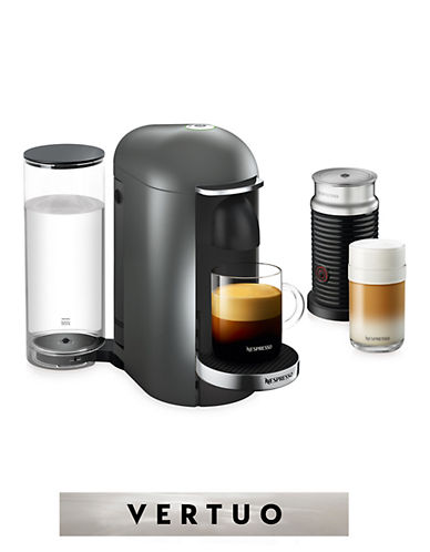Nespresso VertuoPlus Deluxe Coffee Machine and Milk Frother-TITAN-One Size