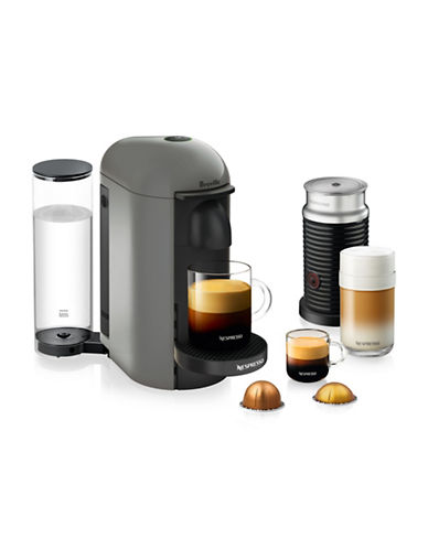 Nespresso VertuoPlus Coffee Machine and Milk Frother-GREY-One Size