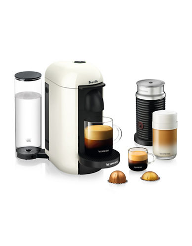 Nespresso VertuoPlus Coffee Machine and Milk Frother-WHITE-One Size