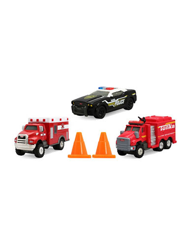 Tonka Three-Pack Diecast Emergency Vehicle Set-MULTI-One Size