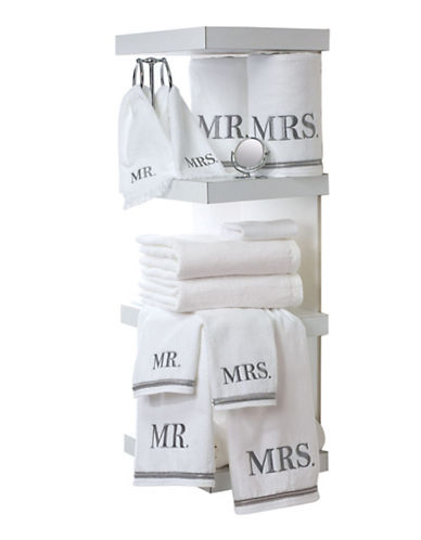 Avanti Mr. Embroidered Cotton Fingertip Towel-WHITE-Finger Tip Towel