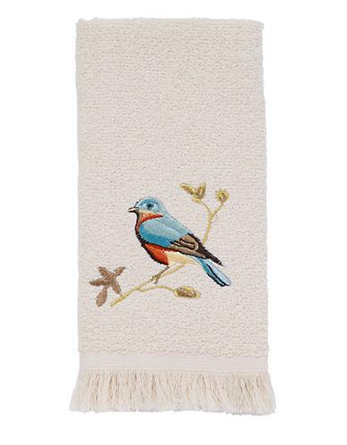 Avanti Gilded Birds Fingertip Towel-IVORY-Finger Tip Towel