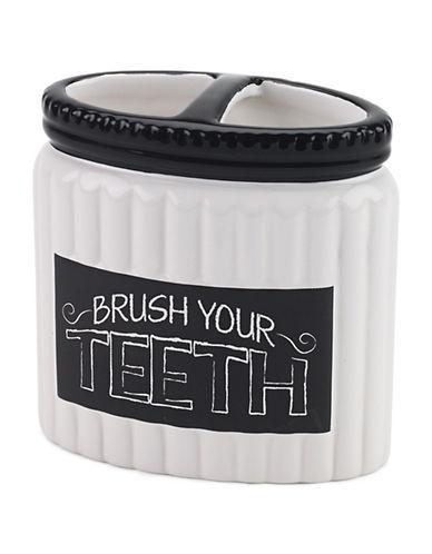 Avanti Chalk It Up Toothbrush Holder-WHITE-One Size