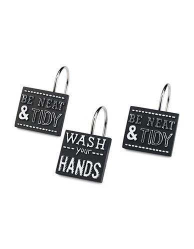 Avanti Chalk It Up Shower Hooks-WHITE-One Size