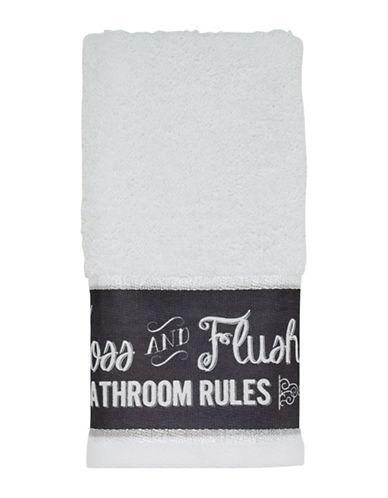 Avanti Chalk It Up Fingertip Towel-WHITE-Finger Tip Towel