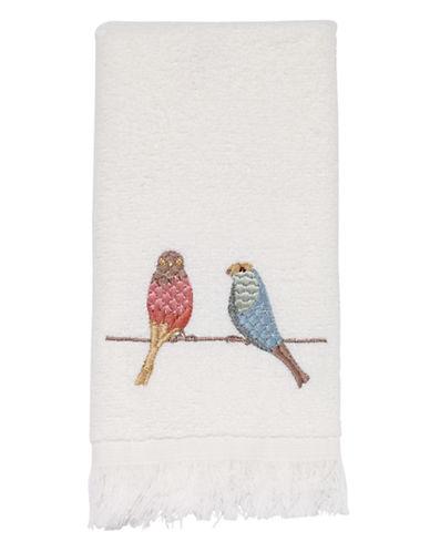 Avanti Bird on Wire Fingertip Towel-WHITE-Finger Tip Towel