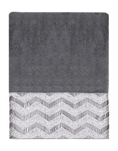 Avanti Chevron Galaxy Polyester Bath Towel-NICKEL-Bath Towel