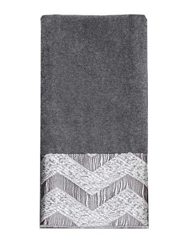 Avanti Chevron Galaxy Polyester Fingertip Towel-NICKEL-Finger Tip Towel