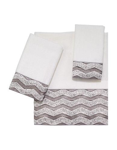 Avanti Chevron Galaxy Polyester Hand Towel-WHITE-Hand Towel
