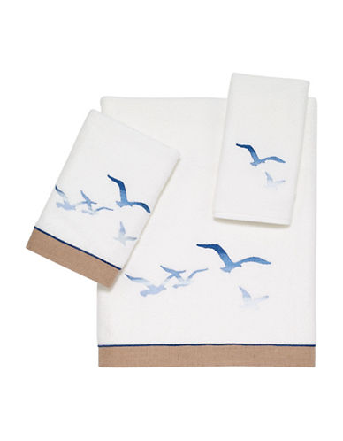 Avanti Seagulls Bath Towel-WHITE-Bath Towel