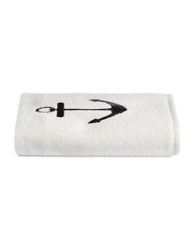 Avanti Rockport Anchor Fingertip Towel-NAVY-Finger Tip Towel