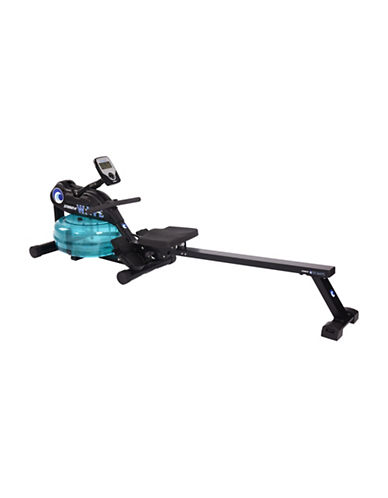 Stamina Wave Water Rower-BLACK-One Size