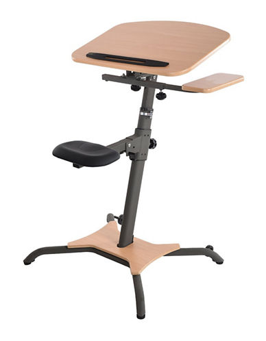 Stamina Stamina Wirk Linea Stand Up Desk-WOOD-One Size