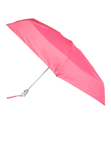 Totes Automatic Open-Close Mini Signature Compact Umbrella-PINK-One Size