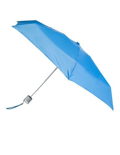 Totes Manual Signature Mini Compact Umbrella-BAHAMA BLUE-One Size