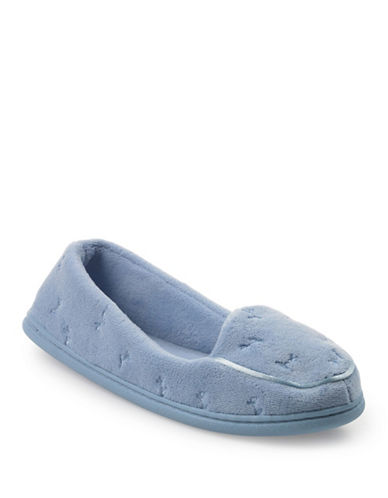 Isotoner Microterry Slipper-BLUE-Large