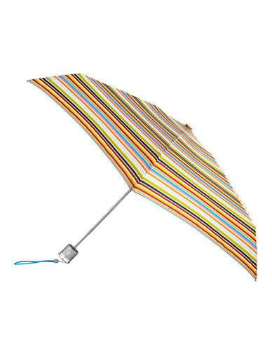 Totes Manual Signature Mini Compact Umbrella-STRIPE-One Size