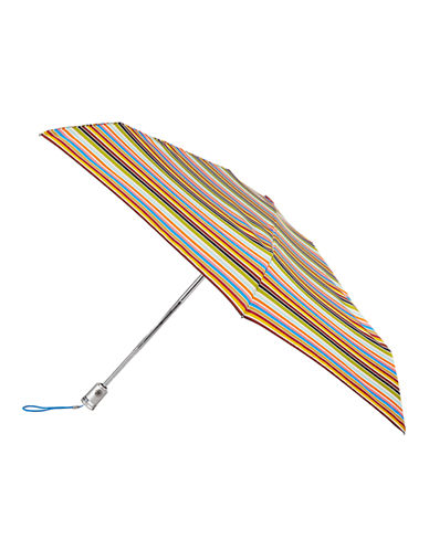 Totes Automatic Open-Close Mini Signature Compact Umbrella-STRIPE-One Size