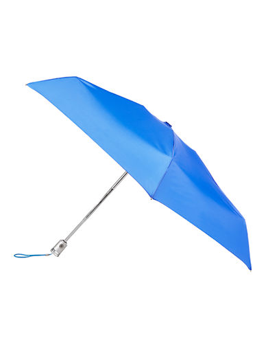 Totes Automatic Open-Close Mini Signature Compact Umbrella-BLUE BIRD-One Size