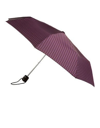 Totes Totes Manual Classic Mini Compact Umbrella-PURPLE-One Size