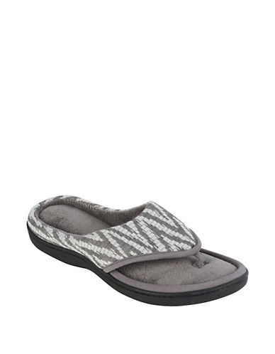 Isotoner Chevron Knitted Thong Slippers 90035403