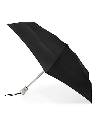 Totes Automatic Open-Close Mini Signature Compact Umbrella-BLACK-One Size