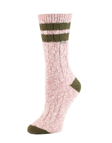 Sorel Varsity Stripe Socks-PINK-One Size