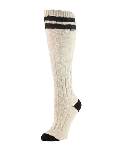 Sorel Varsity Stripe Knee High Socks-FAWN-One Size