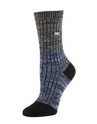 Sorel Spacedye Crew Socks-BLACK-One Size
