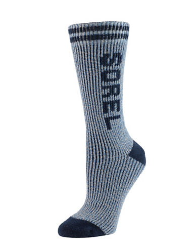 Sorel Water-Repellent Crew Socks-NAVY-One Size