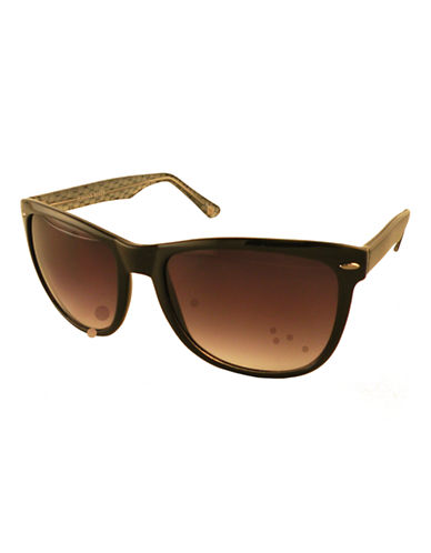 Edit By Jeanne Beker Sophie Wayfarer Sunglasses-BLACK/SNAKE-One Size
