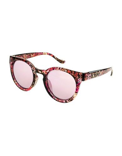 Edit By Jeanne Beker Cherry Round Marbled 47mm Sunglasses-RED-One Size