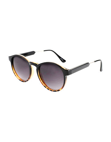 Edit By Jeanne Beker Theresa Round 49mm Sunglasses-BLACK-One Size