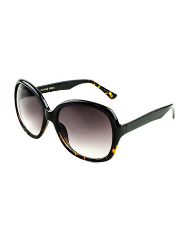 Edit By Jeanne Beker Valentina Oversized 56mm Sunglasses-BLACK-One Size