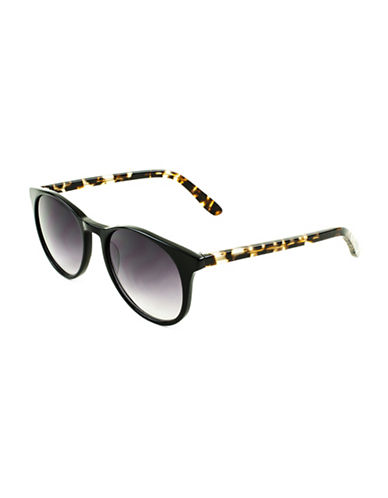 Edit By Jeanne Beker Delphine 52mm Round Sunglasses-BLACK-One Size