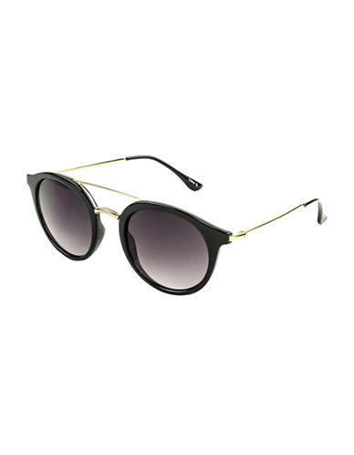 Edit By Jeanne Beker Fiona Round Goldtone 46mm Round Sunglasses-BLACK-One Size