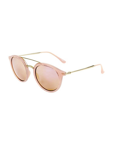 Edit By Jeanne Beker Fiona Round Goldtone 46mm Round Sunglasses-PINK-One Size