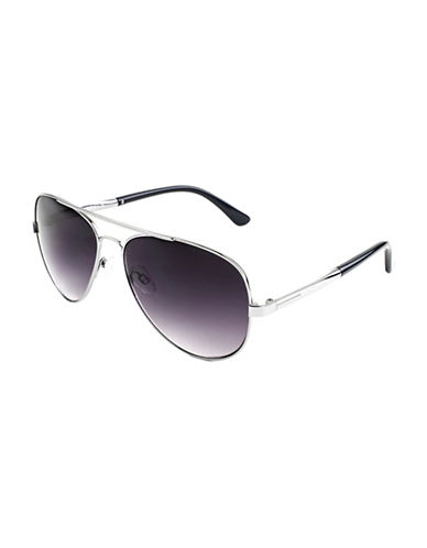 Edit By Jeanne Beker Yvonne Aviator Silvertone 58mm Sunglasses-GREY-One Size