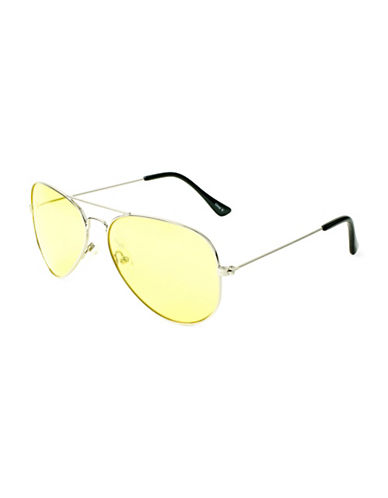 Edit By Jeanne Beker 57MM Double Bridge Aviator Sunglasses-YELLOW-One Size