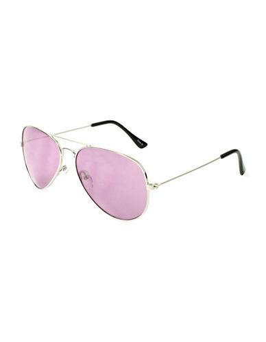Edit By Jeanne Beker 57MM Double Bridge Aviator Sunglasses-PURPLE-One Size