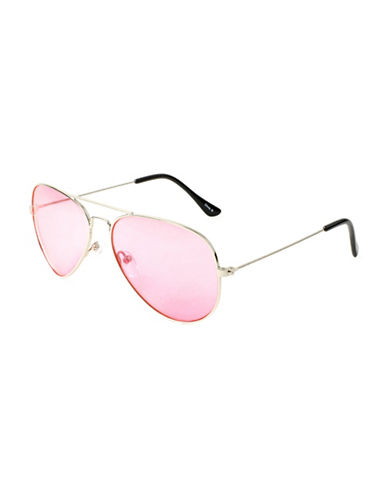 Edit By Jeanne Beker 57MM Double Bridge Aviator Sunglasses-PINK-One Size