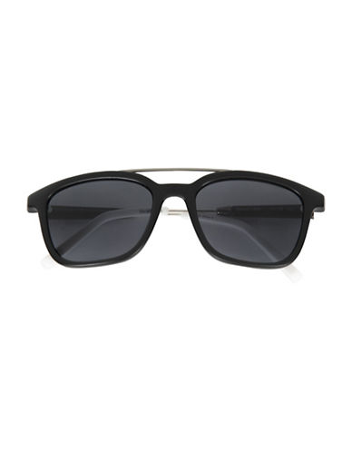 Tommy Hilfiger Men 175 53mm Rectangle Sunglasses-BLACK-One Size