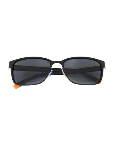 Tommy Hilfiger Men 177 58mm Rectangle Sunglasses-BLACK-One Size