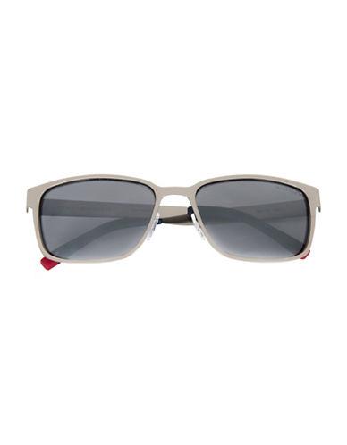 Tommy Hilfiger Men 177 58mm Rectangle Sunglasses-GUNMETAL-One Size