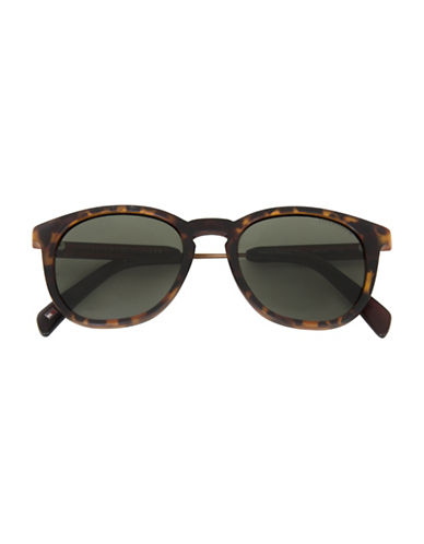 Tommy Hilfiger Rounded 49mm Rectangle Sunglasses-BROWN-One Size