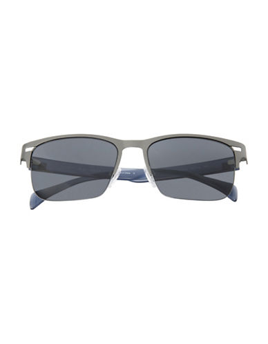 Tommy Hilfiger Semi Rimless 56mm Square Sunglasses-GREY-One Size