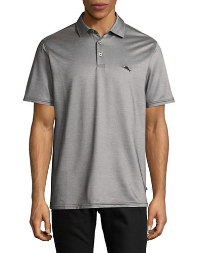 Tommy Bahama On Par Spectator Polo-BLACK-Medium